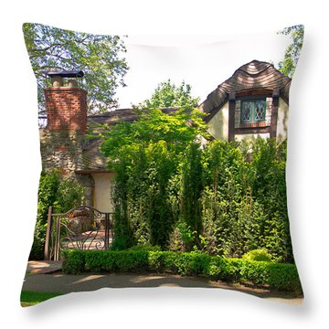 The Hobbit Neighbor  Throw Pillow by Eti Reid
