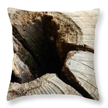Throw Pillow featuring the photograph The Hole by Clare Bevan