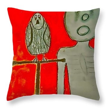 The Hollow Men 88 - Bird Throw Pillow