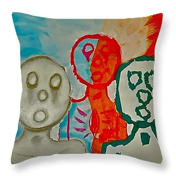 The Hollow Men 88 - Study Of Three Throw Pillow
