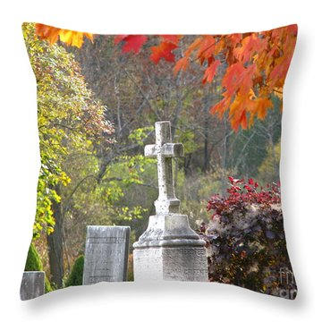 The Holy Cross Throw Pillow by Michael Krek