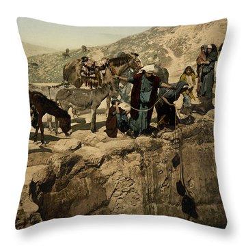 The Holy Land Circa 1890 Throw Pillow