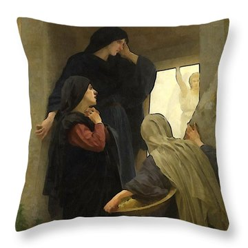 The Holy Women At The Tomb Throw Pillow