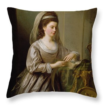 The Hon. Mrs Nathaniel Curzon, 1778 Throw Pillow