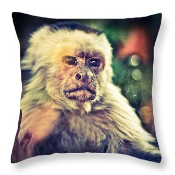 Throw Pillow featuring the photograph The Hopeless Ape by Stwayne Keubrick