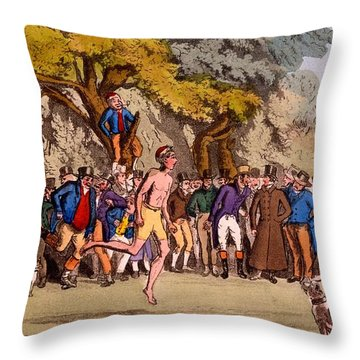 The Hopping Match On Clapham Common Throw Pillow by English School