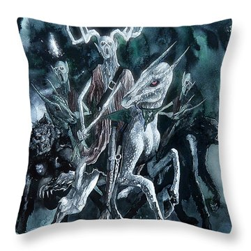 The Horned King Throw Pillow by Curtiss Shaffer