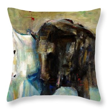 The Horse As Art Throw Pillow by Frances Marino