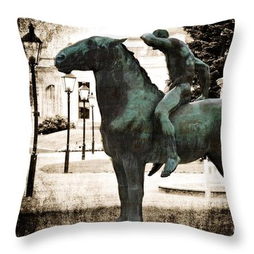 The Horseman Throw Pillow by Mary Machare