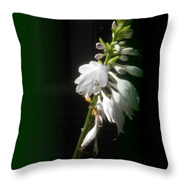 The Hosta Flowers Throw Pillow by Patricia Keller