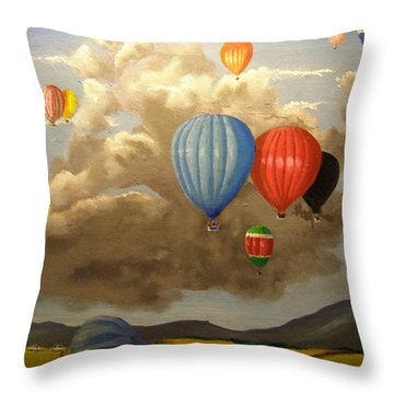 The Hot Air Balloon Throw Pillow