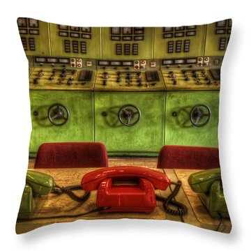 The Hot Line Throw Pillow