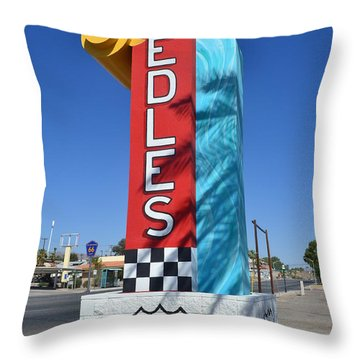 Throw Pillow featuring the photograph The Hottest Spot On Route 66 by Utopia Concepts