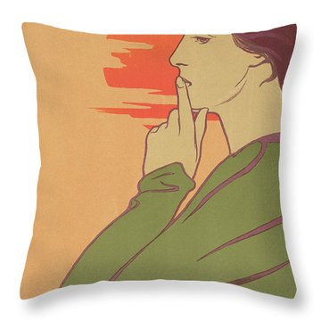 The Hour Of Silence Throw Pillow by Henri Georges Jean Isidore Meunier