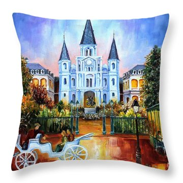The Hours On Jackson Square Throw Pillow by Diane Millsap