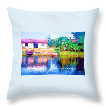 The House Across The Way Throw Pillow