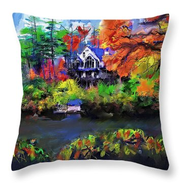 The House At Highlands Throw Pillow