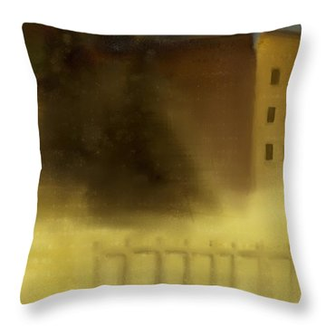 The House Beyond The Fence #c-2 Throw Pillow