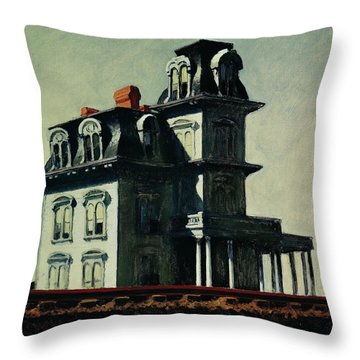 The House By The Railroad Throw Pillow by Edward Hopper