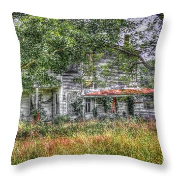 The House In The Woods Throw Pillow by Dan Stone