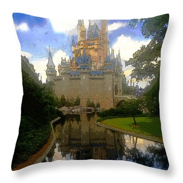 The House Of Cinderella Throw Pillow