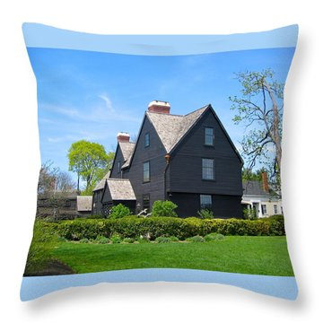 The House Of The Seven Gables Throw Pillow