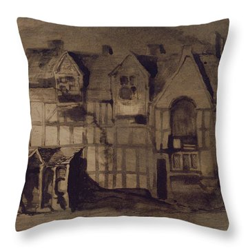 The House Of William Shakespeare Throw Pillow