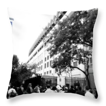Throw Pillow featuring the photograph The House That Ruth Built B/w And Color by Aurelio Zucco
