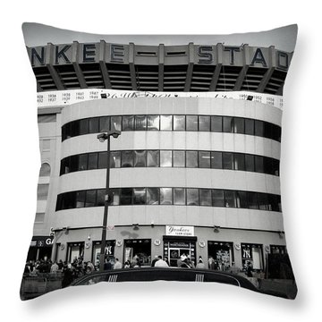 Throw Pillow featuring the photograph The House That Ruth Built B/w by Aurelio Zucco