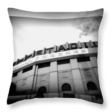 Throw Pillow featuring the photograph The House That Ruth Built B/w Collage by Aurelio Zucco