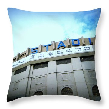 Throw Pillow featuring the photograph The House That Ruth Built Ext. Color by Aurelio Zucco