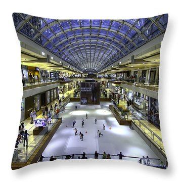 The Houston Galleria Throw Pillow