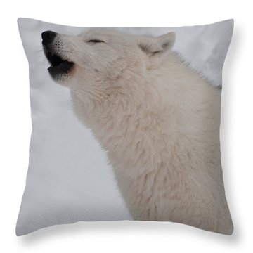 Throw Pillow featuring the photograph The Howler by Bianca Nadeau