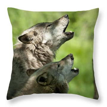 Throw Pillow featuring the photograph The Howling by Wolves Only