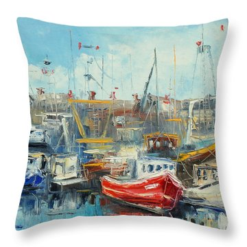 The Howth Harbour Throw Pillow