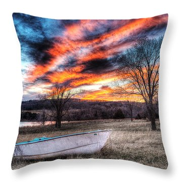 The Humble Boat Throw Pillow by William Fields