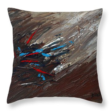 The Hunt Throw Pillow by Donna Blackhall