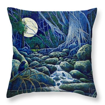 The Hunt For The Wolfman Throw Pillow