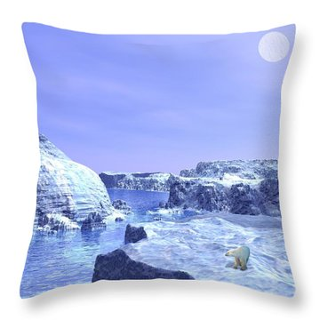 The Hunter Throw Pillow by John Pangia