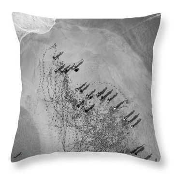 The Hunters Hunted Throw Pillow