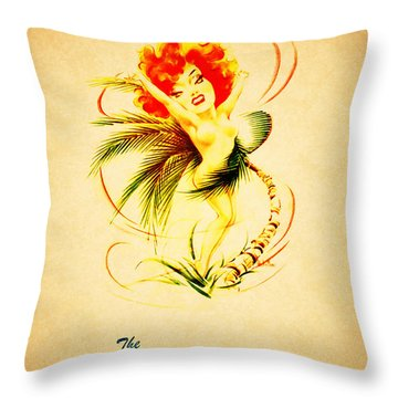 The Hurricane New York 1940s Throw Pillow