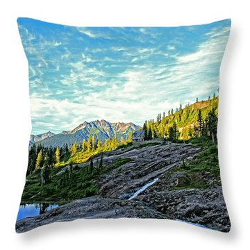 Throw Pillow featuring the photograph The Hut. by Eti Reid