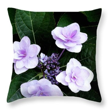 The Hydrangea / Flowers Throw Pillow by James C Thomas