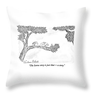 The Icarus Story Is Just That - A Story Throw Pillow