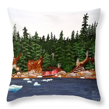 The Ice Took It Throw Pillow by Barbara Griffin