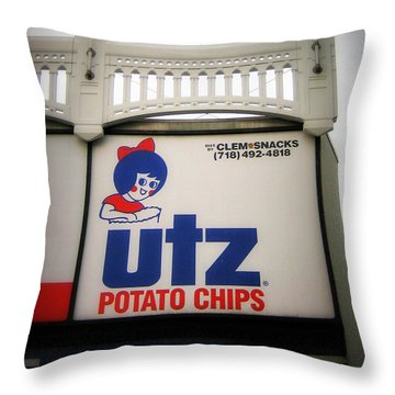 The Iconic Utz Sign Throw Pillow