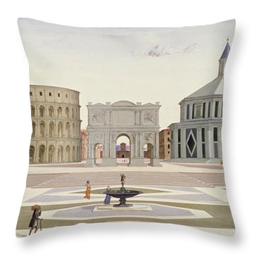 The Ideal City Throw Pillow