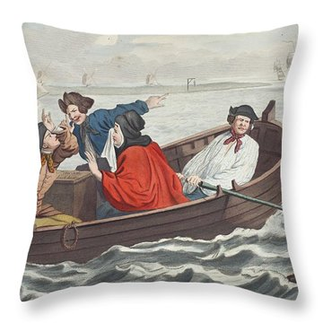 The Idle Prentice Turned Away And Sent Throw Pillow by William Hogarth