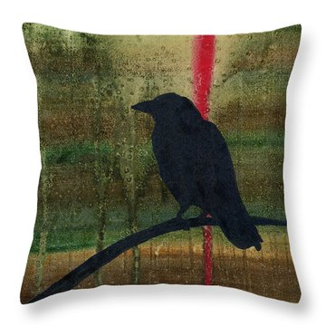 The Impossibility Of Crows Throw Pillow by Jim Stark