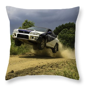 The Impreza Launch Throw Pillow